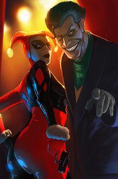 Harley Quinn and Joker by Memed.deviantart.com on @deviantART