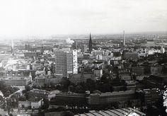 1968 Hamburg - Stadtblick vom Heinrich Hertz Turm (Fernsehturm). ☺
