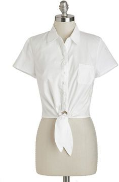 I like this white top. Bettie Page Little White Tie Top on shopstyle.com