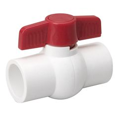 """Mueller Threaded PVC Ball Valve, Rated for 150 PSI at - For use with cold-water applications White color - TPV seats - NBR O-rings Fits both schedule 40 and 80 pipe Threaded ends comply with ANSI Certified to NSF - """"Lead-Free"""" Compliant"""