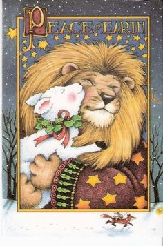 Peace On Earth Lion And Lamb