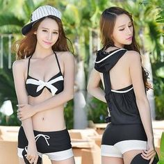 Buy 'DJ Design – 3 Pieces Bikini   Cover-Up Set' with Free International Shipping at YesStyle.com. Browse and shop for thousands of Asian fashion items from China and more!
