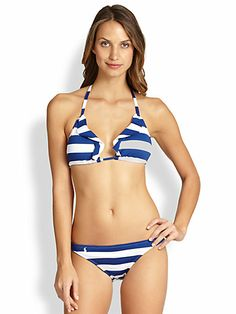 Ralph Lauren Blue Label - Ruffled Triangle Bikini Top - Saks.com