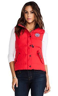 canada goose brown vest