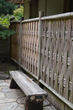 Bamboo fencing at Portland's Japanese Garden
