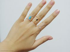 These Frescurites here: DIY: Double Linked Rings
