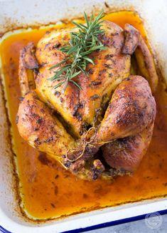 Kurczak pieczony | Wyzwania Kuchenne B Food, Aga, Poultry, Roast, Food And Drink, Turkey, Cooking Recipes, Menu, Chicken