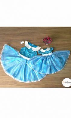 Vestido Azul de Festa -Tal Mãe Tal Filha