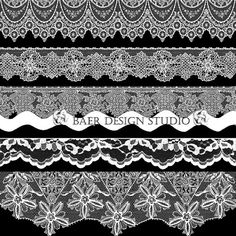 Gorgeous digital lace trim----perfect for wedding invitations, cards, scrapbooking, holidays, etc.