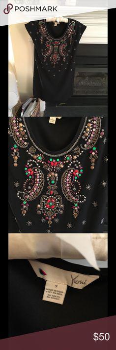 Anthropologie Yumi Dress Black jeweled dress... great fit! Anthropologie Dresses