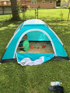 Tent sandbox!!! Keeps the cat poop, bugs, and rain out!!