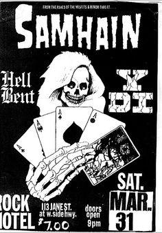 Samhain punk hardcore flyer
