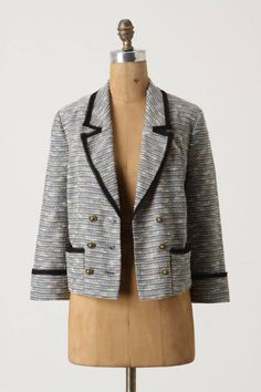Anthropologie Today's Special Blazer Size 10, Tweed Cropped Jacket By Coquille #Coquille #Blazer