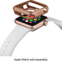 2b395c78d774 Modal Bumper Case for Apple Watch 38mm Gold MD-AWBC38GD - Best Buy Apple  Watch