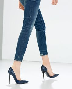 ZARA - WOMAN - PRINTED LEATHER COURT SHOES
