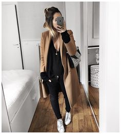 "iPhone! ""Tenue 100% Kure ou presque ❤️ • Leather Jacket #samsoesamsoe (on @cyrielleforkure) • Knit #raiineraiine (from @cyrielleforkure) • Jean #aninebing (from…"" Cool iPhone stuff"