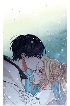 Manga Art, Manga Anime, Anime Art, Romantic Anime Couples, Cute Anime Couples, Anime Couple Kiss, Anime Korea, Anime Witch, Cute Romance