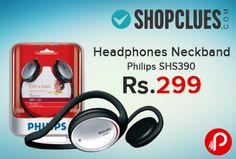 Shopclues is offering #PhilipsSHS390 Neckband Headphones just at Rs.299. The 32 mm speaker driver is a compact yet powerful element for delivering non-distorted sound with any given input power. Bass beat vents allow air movement for better sound with a deep, rich bass. Shopclues Coupon Code – SCGR04KRXA03  http://www.paisebachaoindia.com/headphones-neckband-philips-shs390-just-at-rs-299-shopclues/