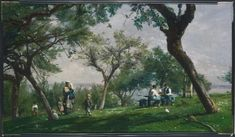 Adolphe-Félix Cais - The Farm at Saint Simon, Honfleur Fine Art Prints, Canvas Prints, Framed Prints, Saint Simon, Honfleur, Philadelphia Museum Of Art, France, Impressionist, Photo Mugs