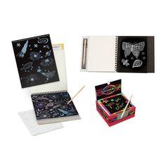 Melissa & Doug Sketch Pad, Doodle Pad & Notes Scratch Art Bundle, Multicolor