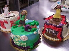 Triplet Girls 3D cakes!