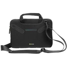 Evecase+HP+Stream+11+Shoulder+Bag,+Compact+Fully+Padded+Neoprene+Messenger+Briefcase+Case+Bag+with+Handle+and+Shoulder+Strap+for+HP+Stream+11.6+inch+ultrabook+laptop+–+Black