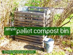 Pallets are free! Use them to start composting. This project could not be any easier--no power tools!