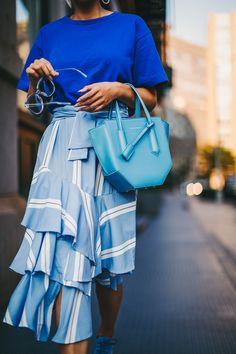 Blue monochromatic effortlessly cool look // NotJessFashion.com