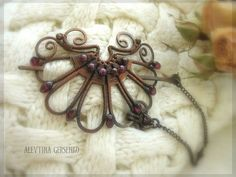wirework baret | Alevtina Gersenko this might work as hair barrette?