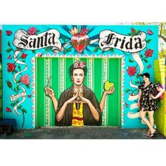 Fieldey ~ mural for sponsored by Salsas Mount Lawley. Diego Rivera, Reverse Graffiti, Frida And Diego, Funky Art, Mexican Art, Visionary Art, Land Art, Hippie Chic, Girls Be Like