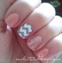 Large Pattern Chevron Nail Decals - YOU PICK COLOR - Set of 60 strips by MakeitStickDesigns on Etsy