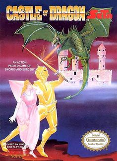 #Castle of Dragon - Label or Box Art #nintendo games #gamer #snes #original #classic #pin #synergeticideas #gameon #play #award
