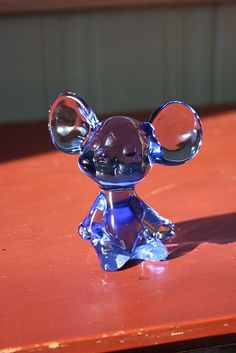 Fenton Mouse Blue Glass Figurine from Castricone Collectibles