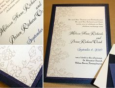 navy and grey wedding invitations   navy option for the inner border that is similar to the original navy ...