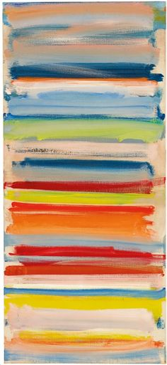 colorful art // Painting by Patrick Heron Atmospheric strata: February, oil on canvas. Mondrian, Pablo Picasso, Abstract Expressionism, Abstract Art, Abstract Painters, Acrylic Paintings, Abstract Landscape, Art Paintings, Patrick Heron