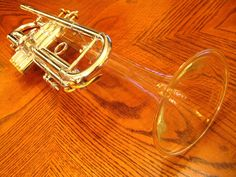 Trumpet with crystal glass bell.