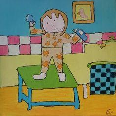 Dit is mijn laaste nieuwste schilderij feest op tafel