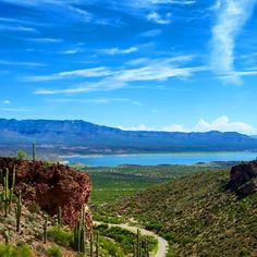 14. Here is a view of Roosevelt Lake from the Tonto National Monument.