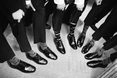 The Groom and Groomsmen's matching socks #mustache #wedding #groomsmensocks