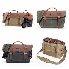 Camera Bag, Canvas Leather Bag, Crossbody Bag- 3 Colors Leather Camera Bag, Leather Bag, Camera Bag Backpack, Hiking Bag, Toiletry Bag, Canvas Leather, Briefcase, Luggage Bags, Crossbody Bag