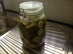 I am a real pickle person. I bought a heap of organic cucumber while I was away, I love them fresh but I love them more pickled so I found this recipe and made them. Cucumber Canning, Cucumber Recipes, Pickling Cucumbers, Types Of Vinegar, Vegetable Appetizers, Probiotic Foods, Tea Time Snacks