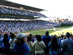 That moment at Wrigley Field after a Cubbie win!  Go Cubs Go!