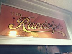 THE Randolph:  Photograph of gold leaf window by Riley Cran (used by permission)
