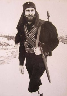 Armenian fighter during the Nagorno-Karabakh War. Nobel warrior defending homeland from invading barbaric Azeri Turks.