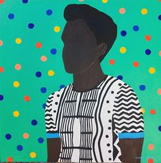 Shakes Tembani: Boy With Sriped Shirt: fine art | StateoftheART African Paintings, African Art, Mask Painting, Puff And Pass, Online Gallery, Quote Prints, Paintings For Sale, Drawing S, Original Artwork