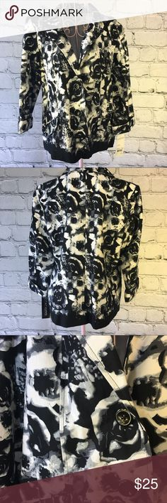 Notations Black Floral Blazer Size Large NWT new Notations Black Floral Blazer Size Large NWT new.  Measurements available upon request. Notations Jackets & Coats Blazers