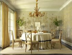 Inspiration for my dining room; Gracie wallpaper; Jan Showers design
