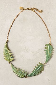 Fern Quartet Necklace #anthropologie