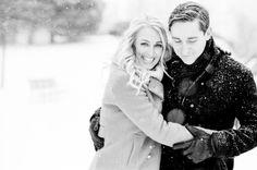 KT Merry: Photography - ktmerry.com  Read More: http://www.stylemepretty.com/2014/03/14/snowy-chicago-engagement-wiup/