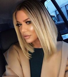 Khloe Kardashian's hair looks so nice like this                                                                                                                                                                                 More
